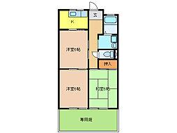 グリーンピア神戸[1階]の間取り
