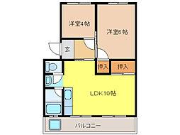 マンション大塔[2階]の間取り