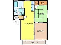 ピューラIII[2階]の間取り