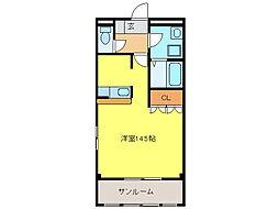 ハーモニー浅野[1階]の間取り