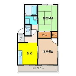 ハイツセンダ[3階]の間取り