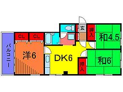COM坂野[2階]の間取り