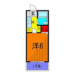 東京都足立区東和4丁目の賃貸マンションの間取り