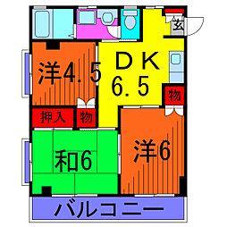 ハイネス毬藻[2階]の間取り
