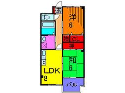レジデンスヤマザキ[1階]の間取り