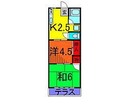 キヨタコーポ[2階]の間取り