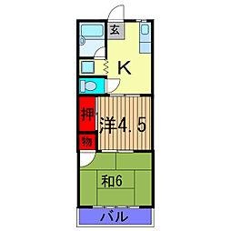 キヨタコーポ[3階]の間取り