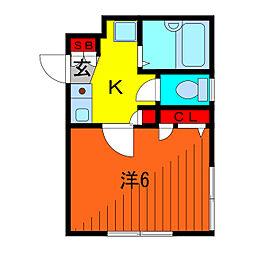 クルミハイツ[1階]の間取り