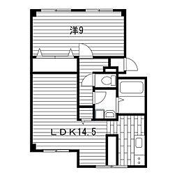 ハイツ福[1階]の間取り