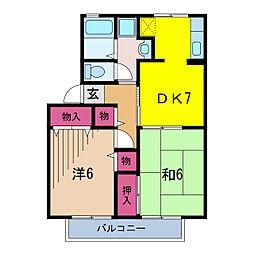 セントパークハイツ(大和リビング)[1階]の間取り
