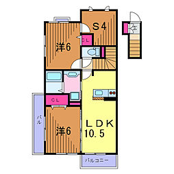 トレンド[2階]の間取り