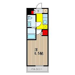 SHOKEN Residence亀有 4階ワンルームの間取り