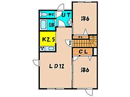 北海道亀田郡七飯町字鳴川町の賃貸アパートの間取り