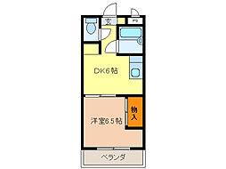 アーバンM21[1階]の間取り