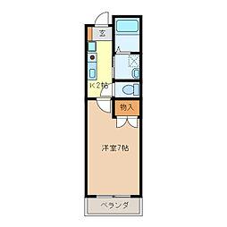 ロイヤルハイム・K[4階]の間取り