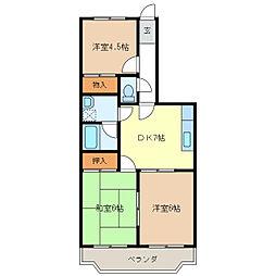 メゾン・ド・ジュール[1階]の間取り