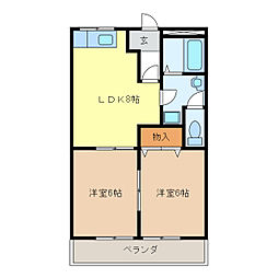 ラメールI[1階]の間取り