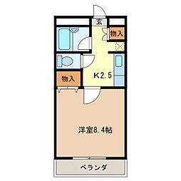 ユーハウス津[3階]の間取り