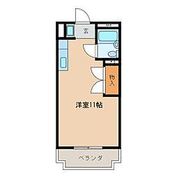 ティアラ桜橋[3階]の間取り