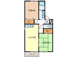 エスポワールA・B・C棟[1階]の間取り