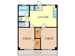 津IN COURT練木[3階]の間取り