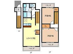 レジデンスブロッコリーC棟[2階]の間取り