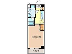 エイムオーエス島崎町マンション[3階]の間取り