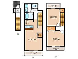 マオリッツA・B[2階]の間取り