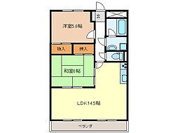 ルーラル興ABC棟[1階]の間取り