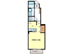 カーサダンディライオン B棟[1階]の間取り