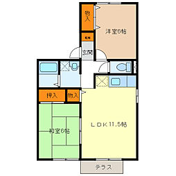 ドミールHAYASHI[1階]の間取り
