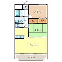 ふじ第2マンション[2階]の間取り