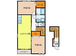 グランシャリオII A・B棟[2階]の間取り