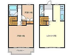 [テラスハウス] 三重県津市垂水 の賃貸【/】の間取り
