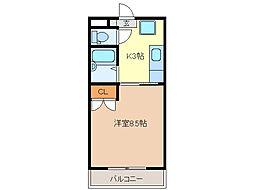エスプール阪野[306号室]の間取り