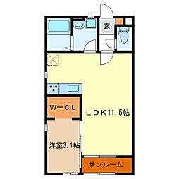 La Vita[1階]の間取り