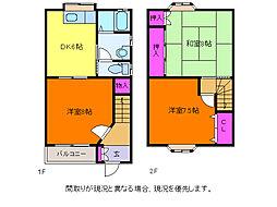 [テラスハウス] 新潟県新潟市西区小針6丁目 の賃貸【/】の間取り