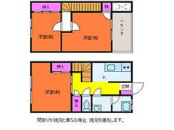 [テラスハウス] 新潟県新潟市西区大野町 の賃貸【新潟県 / 新潟市西区】の間取り