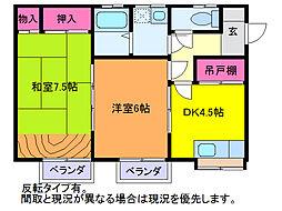 レジデンス・ナカジマ[2階]の間取り
