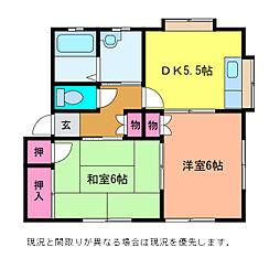 ルネス・坂井[B1-2号室]の間取り