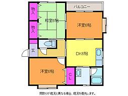 新潟県新潟市西区坂井東6丁目の賃貸アパートの間取り