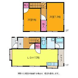 [一戸建] 新潟県新潟市西区立仏 の賃貸【/】の間取り