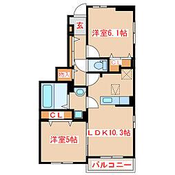 JR指宿枕崎線 枕崎駅 バス45分 保健所前下車 徒歩12分の賃貸アパート 1階2LDKの間取り