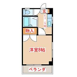 JR指宿枕崎線 坂之上駅 徒歩8分の賃貸マンション 2階1Kの間取り