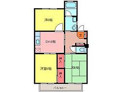リバーサイドマンション[203号室]の間取り
