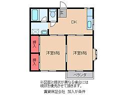 栗島マンション[103号室]の間取り