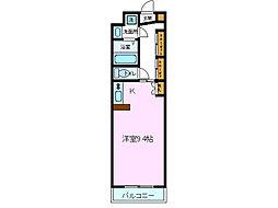 パティオ川村[E-24号室]の間取り