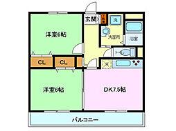 ユアーズホーム[105号室]の間取り