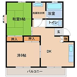 サンリーフマンション[2階]の間取り