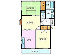 平沢ハイツA B[B102号室]の間取り